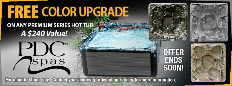 Free color hot tub upgrade